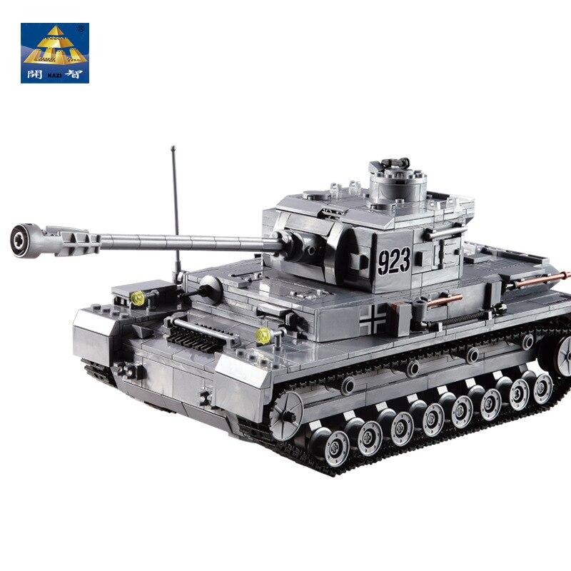 KAZI Big Panzer IV Tank 1193 Uds bloques de construcción ejército militar Constructor juguetes educativos niños compatibles ladrillos regalos