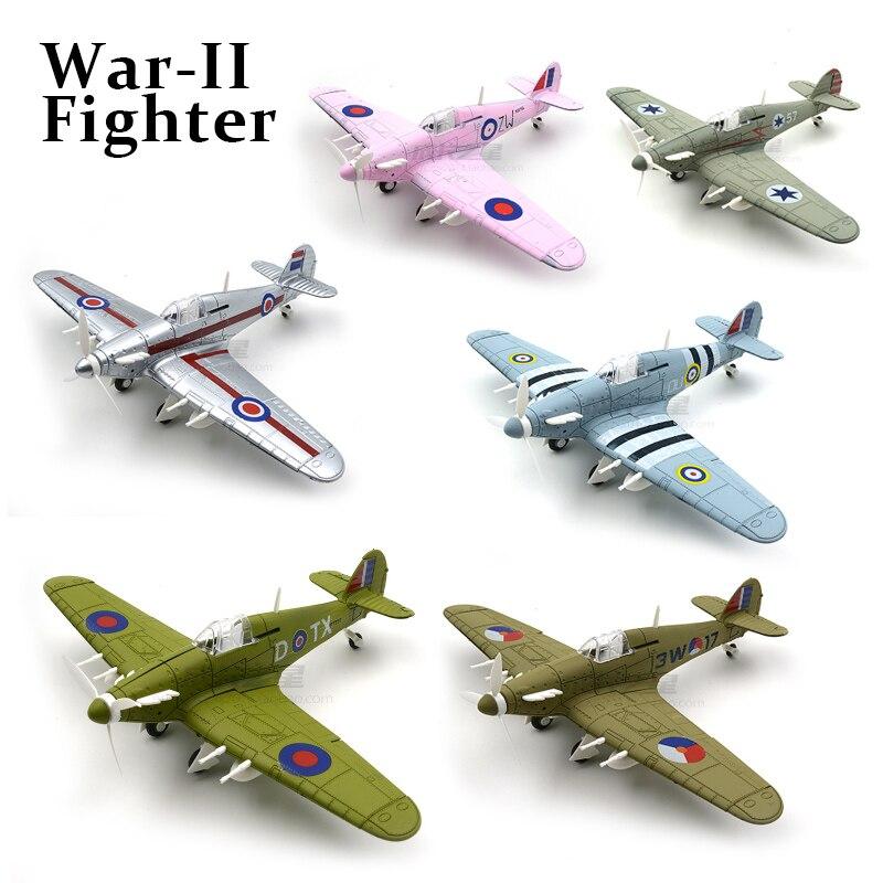 6 видов цветов 1/48 4d сборные военные модели, игрушки, строительные наборы, самолёты Hawker Hurricane Fighter Diecast War-II, самолёты