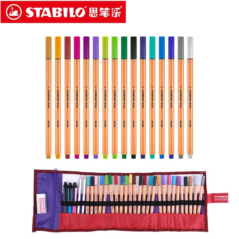 Stabilo Point 88 marcadores artísticos 0,4mm pluma de fibra 25 colores punta de aguja Fineliner Manga diseño bocetos, dibujo