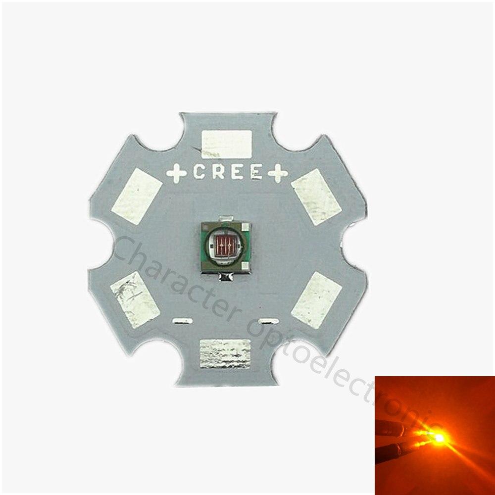 10 Uds XPE R3 Yellow3W Cree XLamp XPE XP-E amarillo 590nm ~ 595nm lámpara de luz LED con 20/16/14/12/10/8mm PCB Base