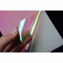 Tigofly 6 pièces 10X21 cm Film adhésif Flash lueur dans le noir lumineux artificiel peau de poisson bricolage gabarit autocollant appâts durs leurres autocollant