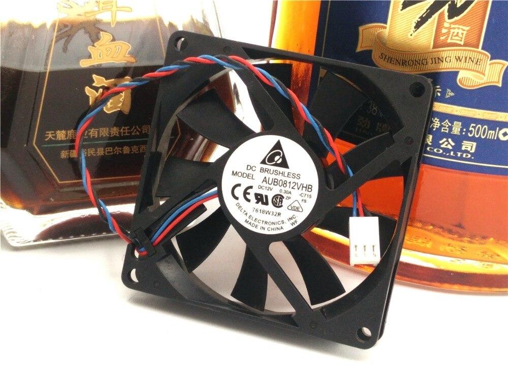 AUB0812VHB 8015 12V 0.30A 8cm ultra delgado chasis fuente de alimentación ventilador de refrigeración