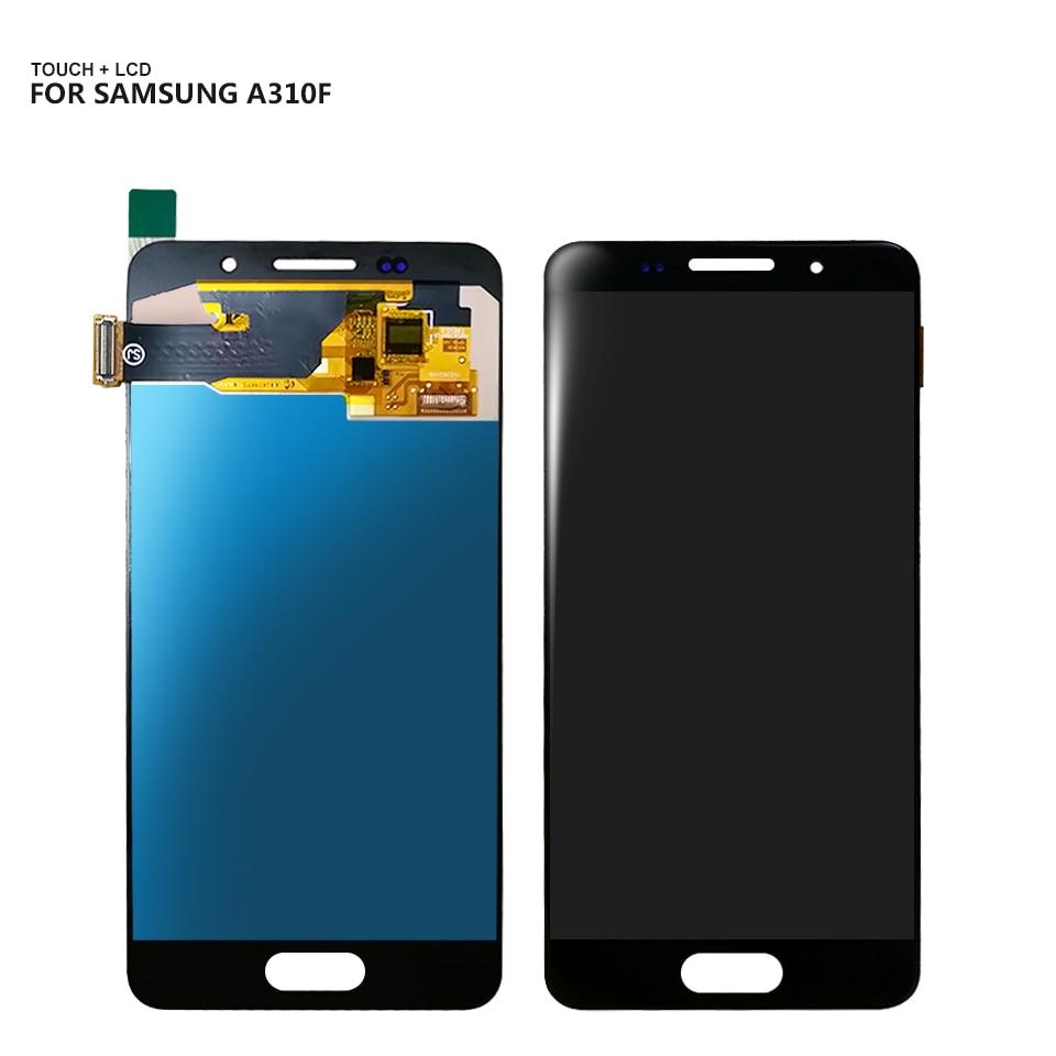 AAA LCD Für Samsung Galaxy A3 2016 A310 A310F A310H A310M LCD Display Touchscreen Digitizer Montage Ersatz + Freies werkzeuge