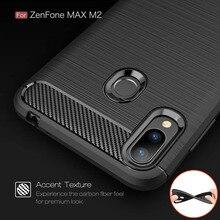 Coque en Fiber de carbone 6.3For Asus Zenfone Max M2 ZB633KLCase pour Asus Zenfone Max M2 ZB633KL Coque arrière pour téléphone