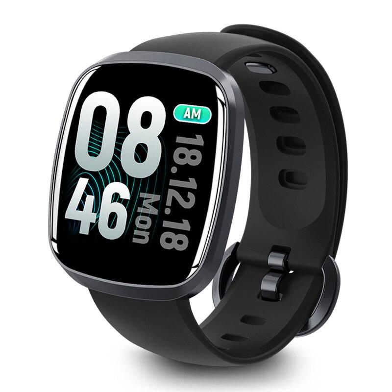 OGEDA hombres reloj inteligente de moda impermeable GT103S rastreador de fitness de presión arterial Monitor de sueño Control de música Pantalla Completa táctil