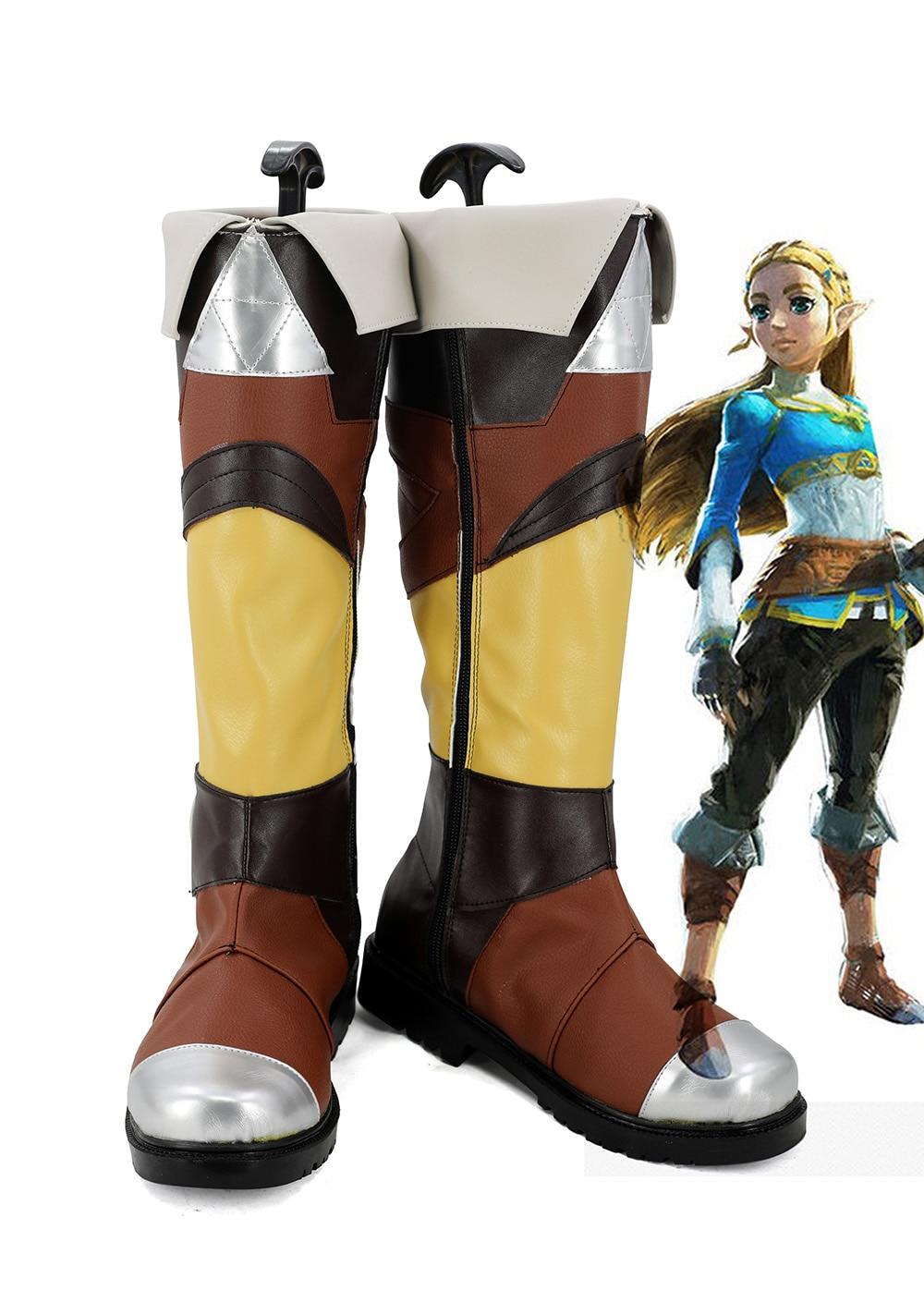 Легенда о Зельде; обувь принцессы Зельды для костюмированной вечеринки; обувь на заказ