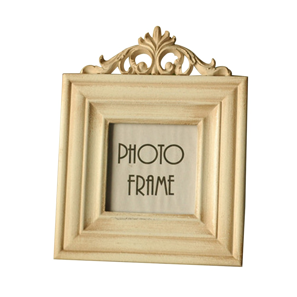 Marco de fotos Vintage estilo europeo Vintage foto de madera Retro marco de foto mesa superior Marco de exhibición marco de fotos Vertical