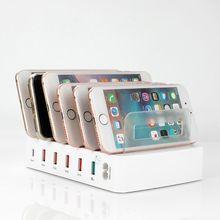 QC 3.0 stacja ładująca USB 5 Port USB do ładowania stacja dokująca stojak na biurko wielu portów ładowarka do telefonu iPhone 7 iPad Samsung