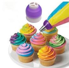 Convertisseur de Dessert buses trois couleurs   Décoratifs de gâteaux, glaçage crème tuyauterie pointes de seringue, Muffin pâtisserie outils de cuisson, bricolage