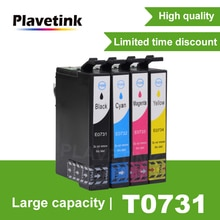 Plavetink T0731 엡손 73N T0731n 카트리지 스타일러스 CX3900 CX5900 CX4900 CX5500 CX7300 C79 TX219 TX110 프린터
