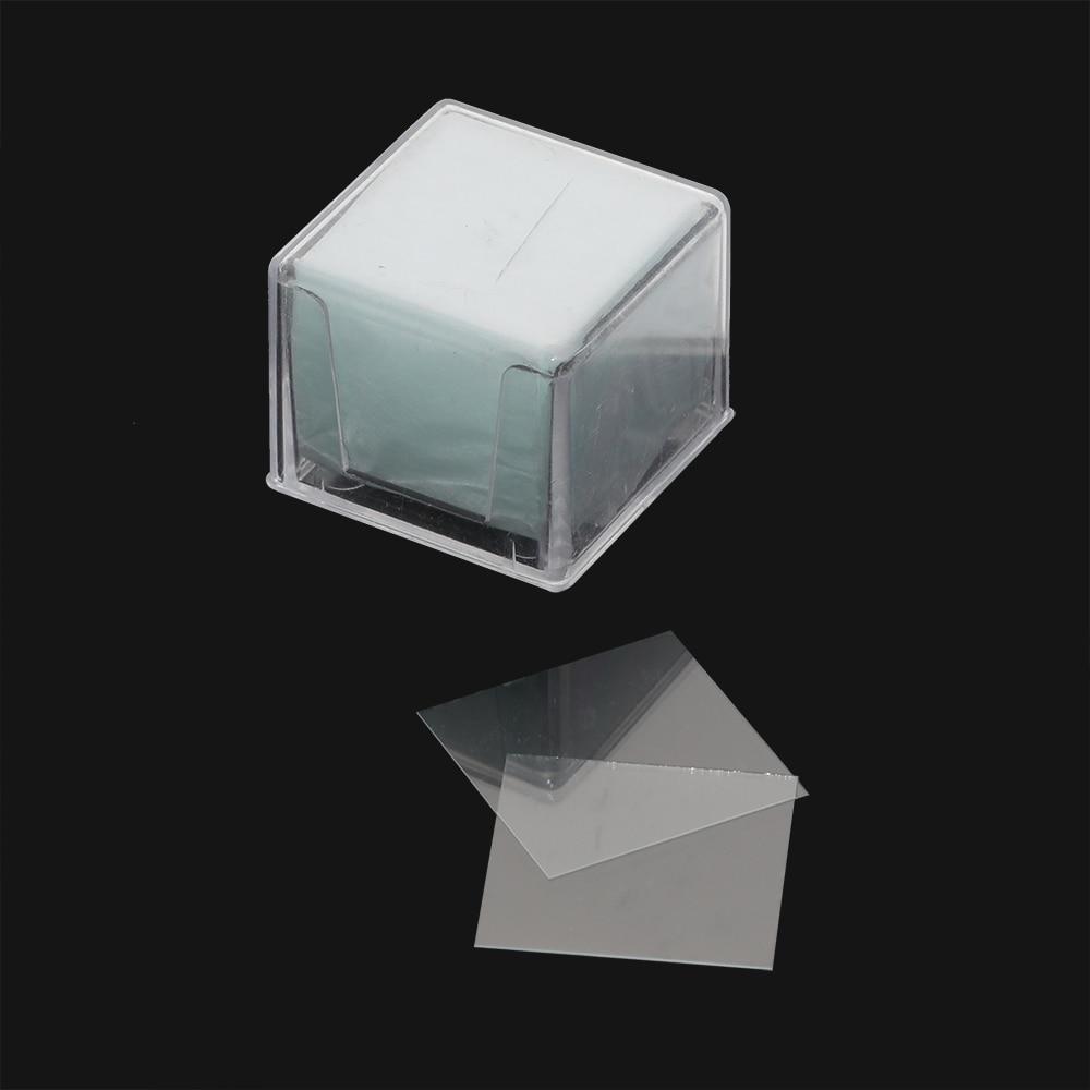 20*20mm 10 caja/1000 Uds. Microscopio biológico cubierta Preparación de vidrio espécimen