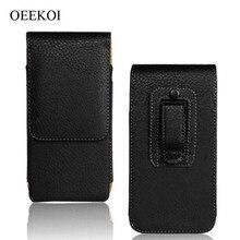 OEEKOI ceinture Clip PU cuir taille titulaire Flip pochette étui pour Moto P30 Play/One/E5 Cruise/E5 Play Go/E5 Play/X4/G5S/G5 Plus/M