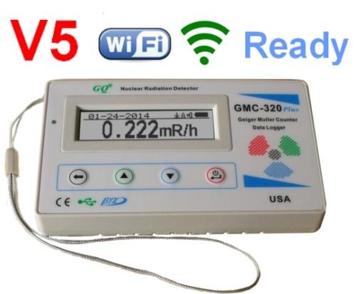 GQ GMC-320 + V5 WiFi جيجر مكافحة RadiationDetector النووية غاما BetaX-راي