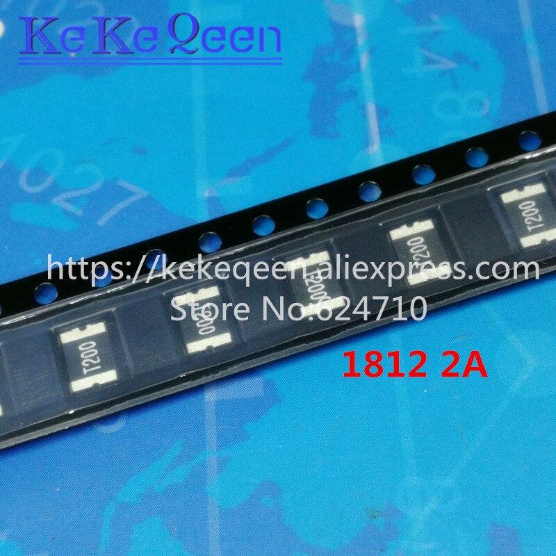 100PCS PTC FUSE 1812 2A 2000MA 30V SMT SMD PPTC SMD L1812T200 Resettable Fuses 4532 4.5*3.2mm