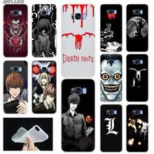 Telefon samsung kılıfı S6 S7 kenar S8 S9 S10 S11 artı not 8 9 10 Fundas Coque yumuşak TPU arka kapak Manga ölüm notu not defteri
