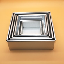 Baking Mold 4 Inch 9 Inch Square Bottom Cake Mold Aluminum Alloy Baking Cake Mold