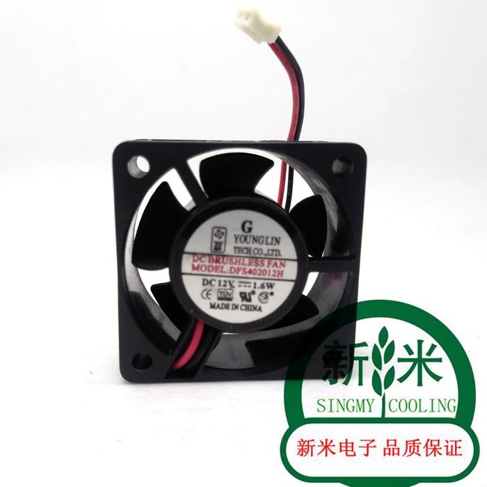مستعملة يونغ لين 4020 DFS402012H 12 فولت 1.6 واط 0.13A 2 خطوط الصمت مروحة التبريد