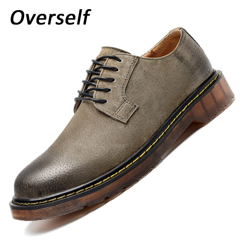New Arrival Spring Low Heels Boots High Quality Suede Men Shoes Luxury Brand Men Pigskin Boot bota masculina Plus Size EUR 45 46