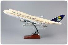 47cm Saudi-arabien Airlines Flugzeug Modell Harz Boeing 747-400 SA Flugzeug Modell B747 HZ-AIF Modell Skala Erwachsene spielzeug Sammlung