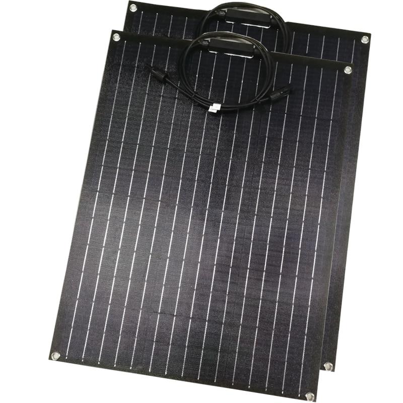 60W ETFE Flexible solar panel 18V for 12v panel charger semi flexible solar panels A grade solar cell customized size
