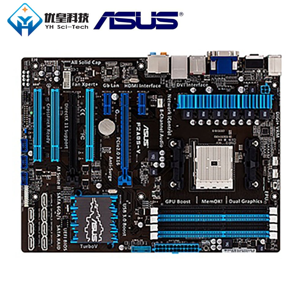 Asus F2A85-V AMD A85X placa base de escritorio Original usada FM2 AMD A10/A8/A6/A4/Athlon DDR3 64G ATX
