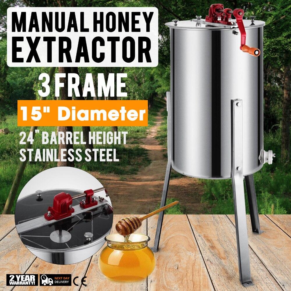 العلامة التجارية الجديدة كبيرة 3 الإطار الفولاذ المقاوم للصدأ فرّاز العسل اليدوي خزان مع الساقين/الوقوف.