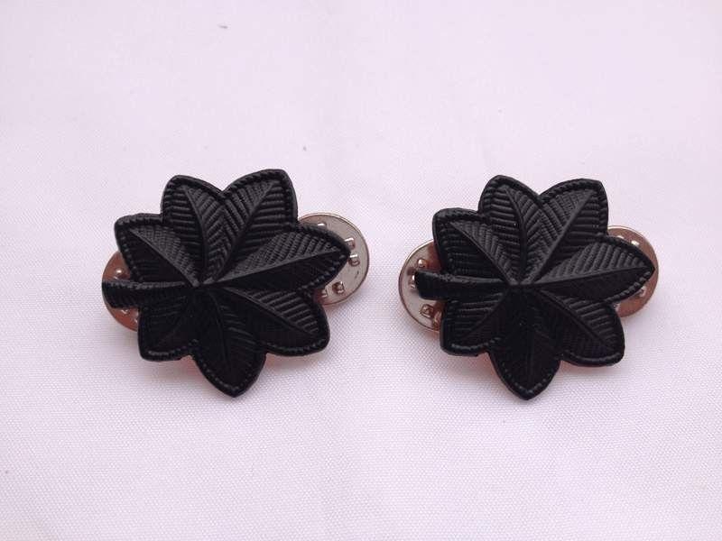 Par de WW2 eua tenente coronel do exército Epaulette dispositivo de Metal Pin emblema - US042