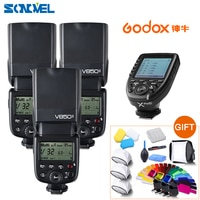 FREE DHL ! 3x Godox V850II GN60 HSS 2.4G Wireless X System Flash Speedlite Li-ion battery +Xpro-C Transmitter For Canon cameras
