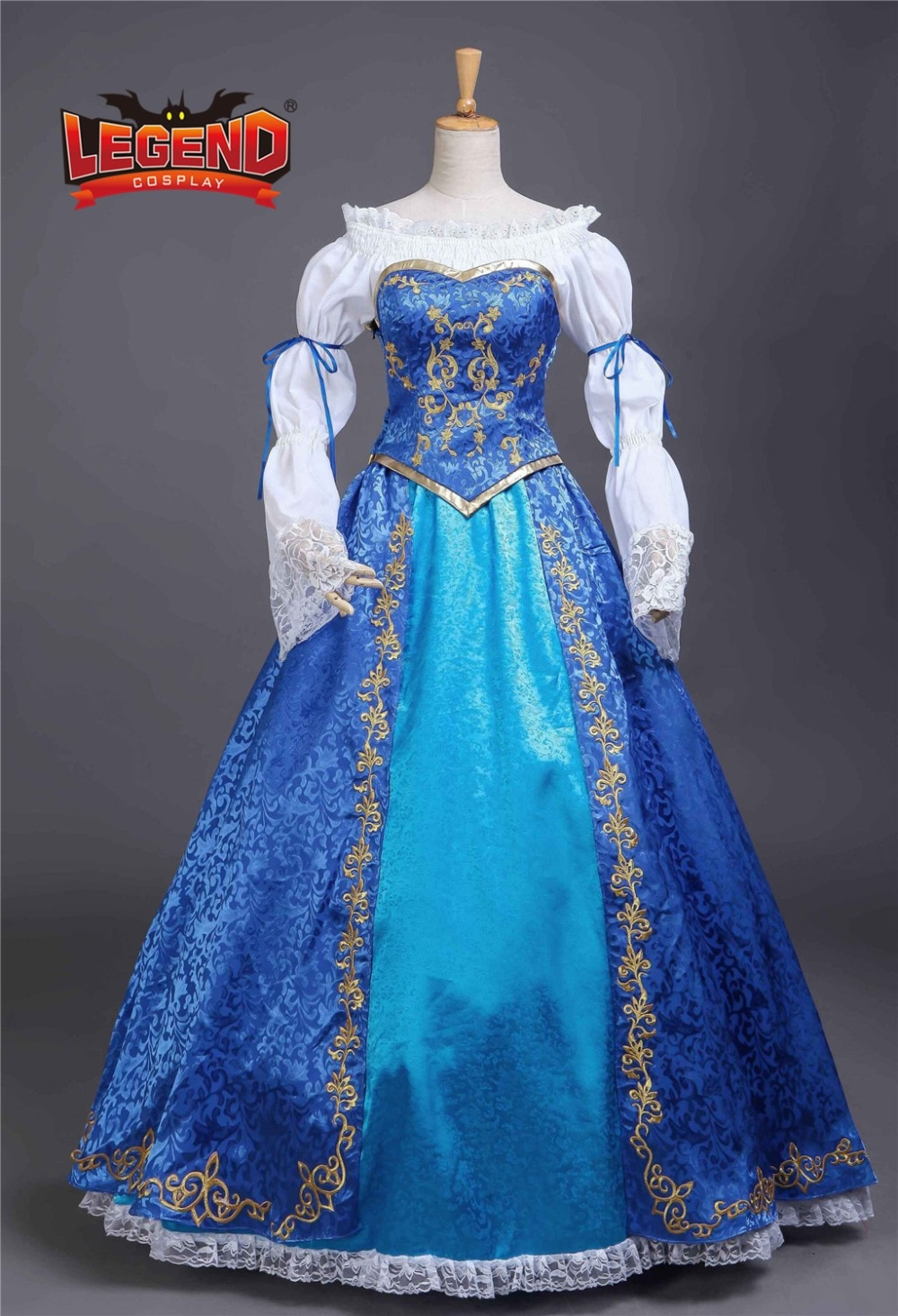 فستان الأميرة حورية البحر للكبار ، فستان الأميرة الأزرق الفاخر ، نسخة دمية للبالغين ، تأثيري ، مصممة خصيصًا