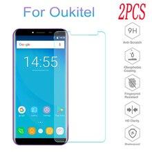 2PCS 9H Tempered Glass for Oukitel C11 Pro C12 Plus C9 K10 K10000 Mix K7 Power K8 U17 U23 Protective Film Screen Protector