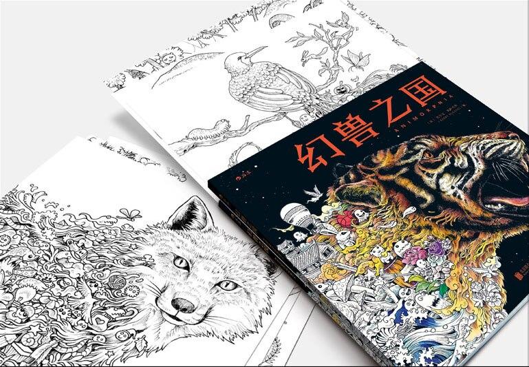 Livros Para colorir Para Crianças Adulto Pintura Desenho Livro de Matar Tempo arte coloração livro criativo