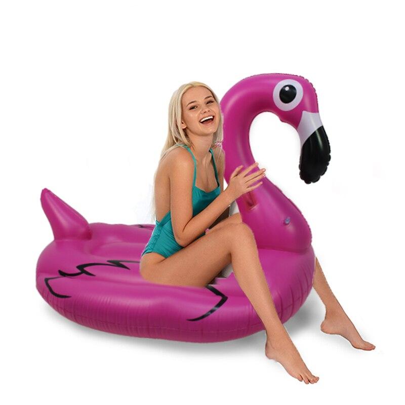 Inflável da Água do Mar da Praia de Verão do Partido Brinquedos para Adultos Engraçado Inflável Gigante Piscina Flamingo Float Praia Colchão Swmming Círculo