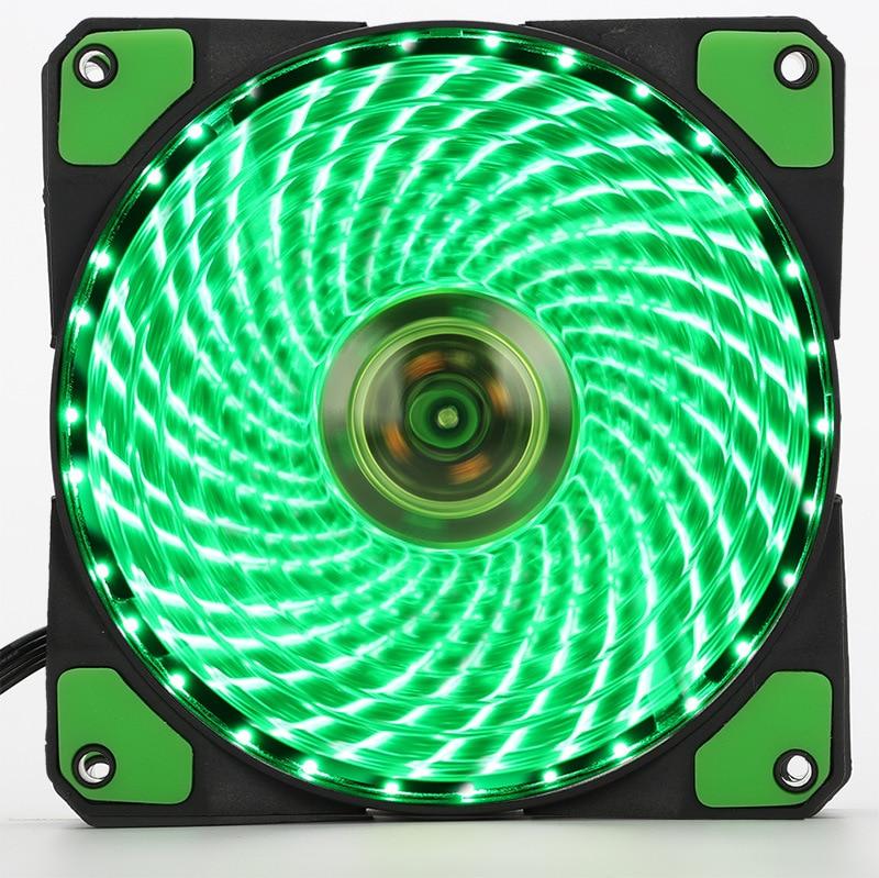 120mm PC Computer 16dB Ultra Silent 33 LEDs Fall Fan Kühlkörper Kühler w/ Anti-Vibrations-Gummi, 12CM Lüfter, 12VDC 3P IDE 4pin