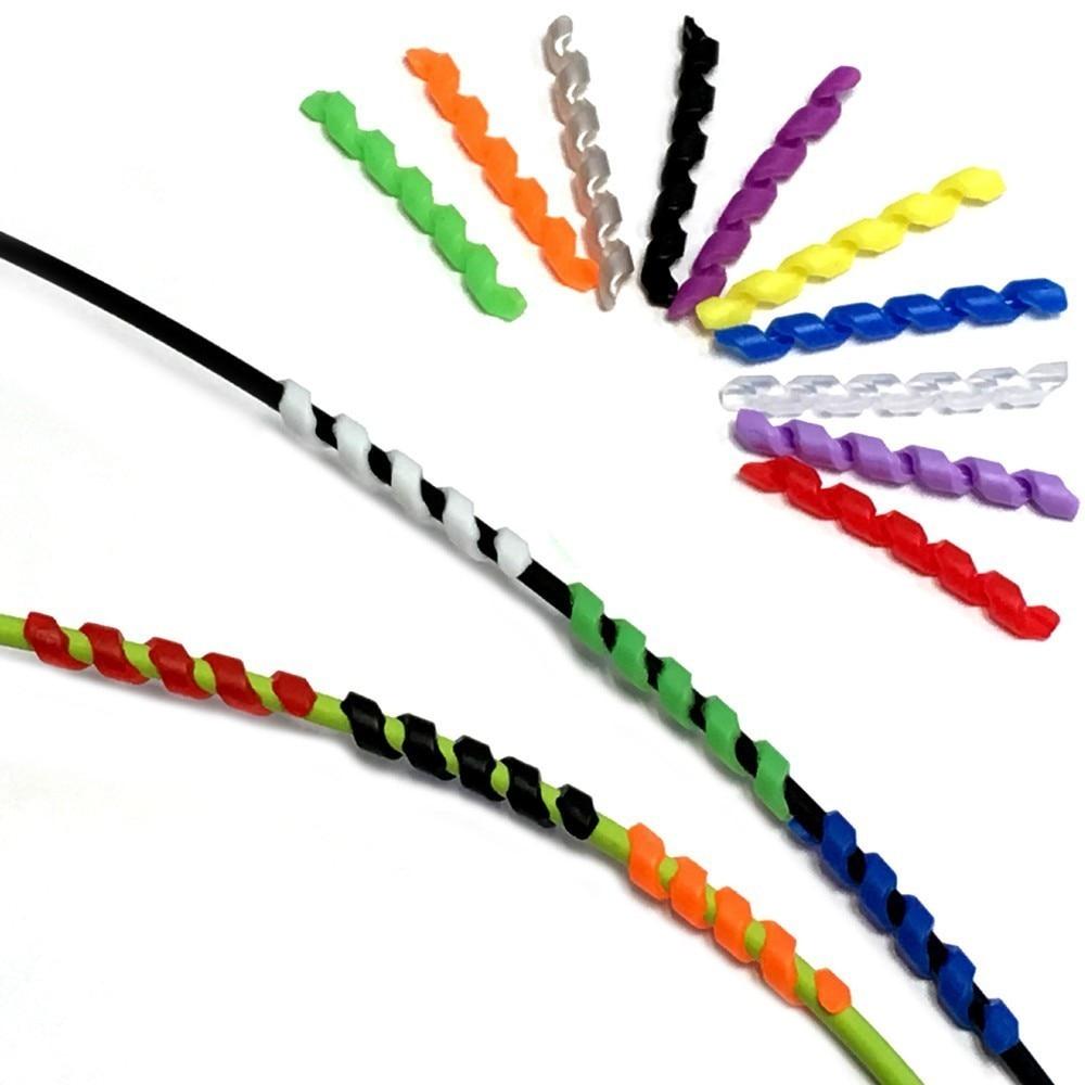 5 шт. Велосипедный тормозной кабель корпус спиральный винтовой рукав антифрикционный обмоточный тормозной рукав