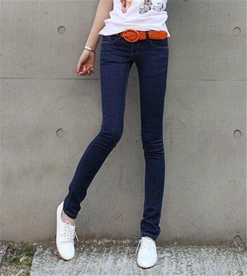 Festland Plus Größe 26-31 Frauen Hosen 2016 Sommer Stil Frauen Denim Gewaschen Mittlere Taille frau Jeans Weiblichen Bleistift dünne Jeans