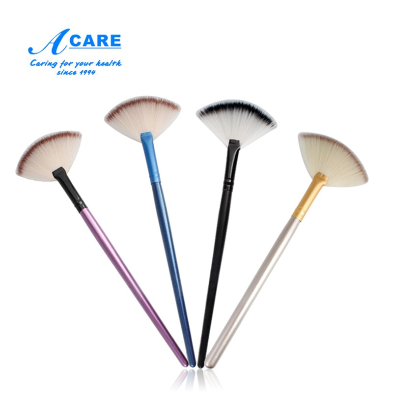 ACARE 1Pc Fan Shape Powder Concealer Blending Brush Professional Highlighter Foundation Cosmetic Brush Make Up недорого