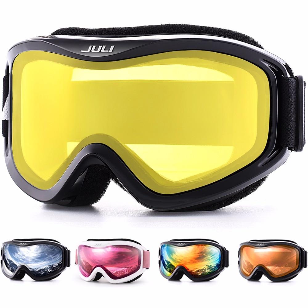 نظارات تزلج شتوية للرجال والنساء ، نظارات ثلجية شتوية مع عدسات مزدوجة مضادة للضباب