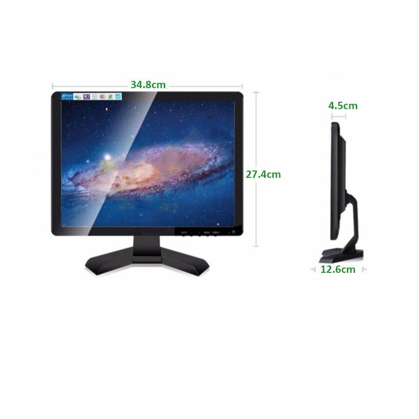 Monitor Industrial VGA de 15 pulgadas, pantalla LCD para ordenador, monitor de escritorio, caja de seguridad para supermercado, Pc