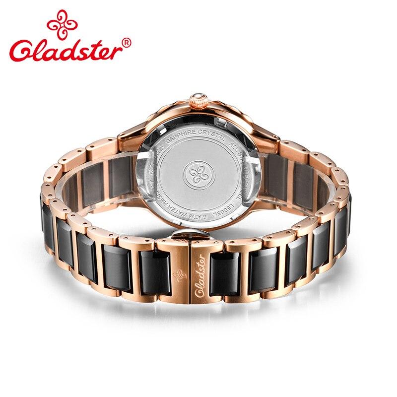 Gladster Fashion Japanese MIYOTA 6P29 Women Watch Luxury Stainless Steel Ceramic Clock Crystal Quartz Ladies Dress Wristwatch enlarge