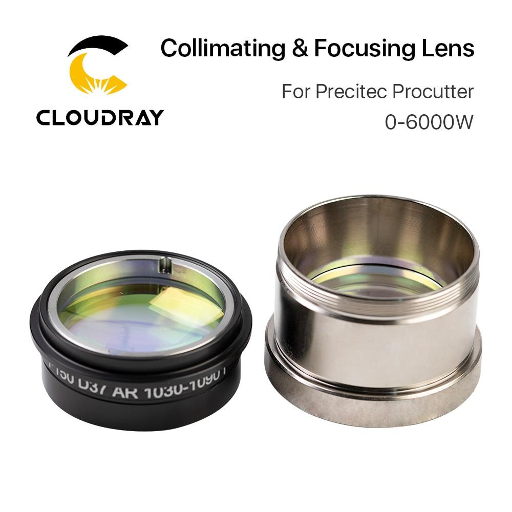 Lente de enfoque de colimación láser de fibra Cloudray D37 con soporte de lente para productos Precitec cabezal de corte láser 0-6 kW