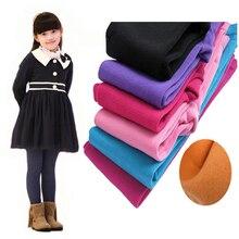 Leggings dautomne et dhiver pour filles   Pantalons en molleton, chauds, couleur bonbon, à la mode, pour enfants de 3 à 9 ans