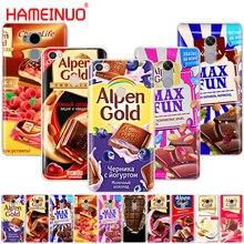 HAMEINUO chocolate alimentos paquete ruso cubierta funda de teléfono para Xiaomi redmi 5 4 1 1 2 3 3s pro redmi note 5 4 4X 4A 5A plus