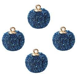 10 pçs/lot17 * 15mm bola redonda tecido contas de bola encantos ajuste brinco colar pulseira pingente para diy jóias fazendo descobertas