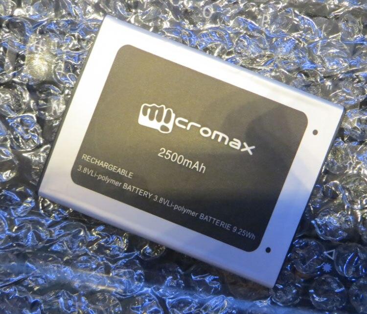 Для D340 батарея MICROMAX D340 батарея 2500 мАч мобильный телефон литий-ионный аккумулятор замена