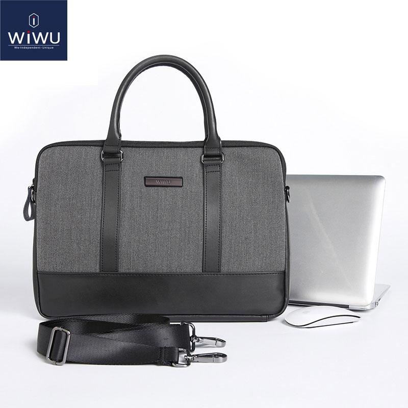 Wiwu caso saco do portátil de couro para macbook pro 13 saco do computador para xiaomi notebook ar 13 saco do portátil para macbook pro 16 a2141 2019