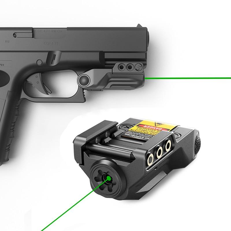 Laserspeed subcompact green 9mm gun laser sight usb rechargeable for pistol weapon laser pointer mira laser para pistola