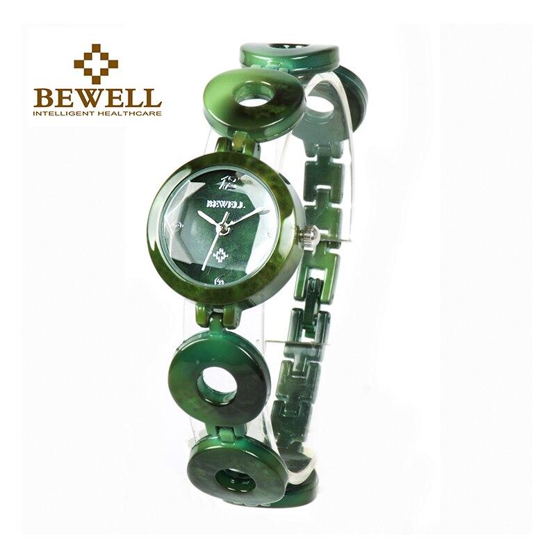BEWELL  Women Stone Watches Girl Jewels Bangle Jewels & Stones Watch Ladies Wrist Jewelry Quartz Watch As Gift for Women 075A