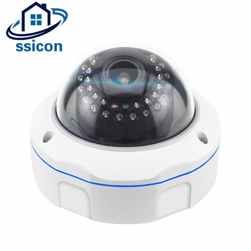 Cámara de seguridad SSICON 5MP AHD 2,8-12mm lente a prueba de vandalismo 4X Zoom Manual Domo CCTV analógica cámara de visión nocturna con menú OSD