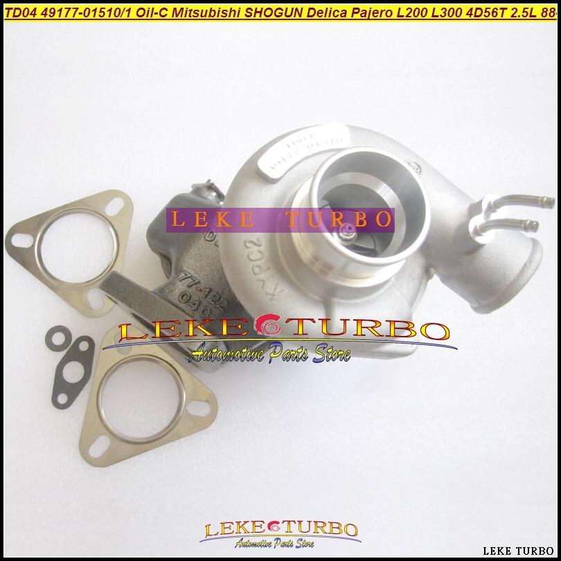 TD04 49177-01510 49177 01511 MD094740 MD106720 Legal Óleo Turbo Para Mitsubishi Delica Pajero SHOGUN L200 L300 88- 4D56T 4D56 2.5L