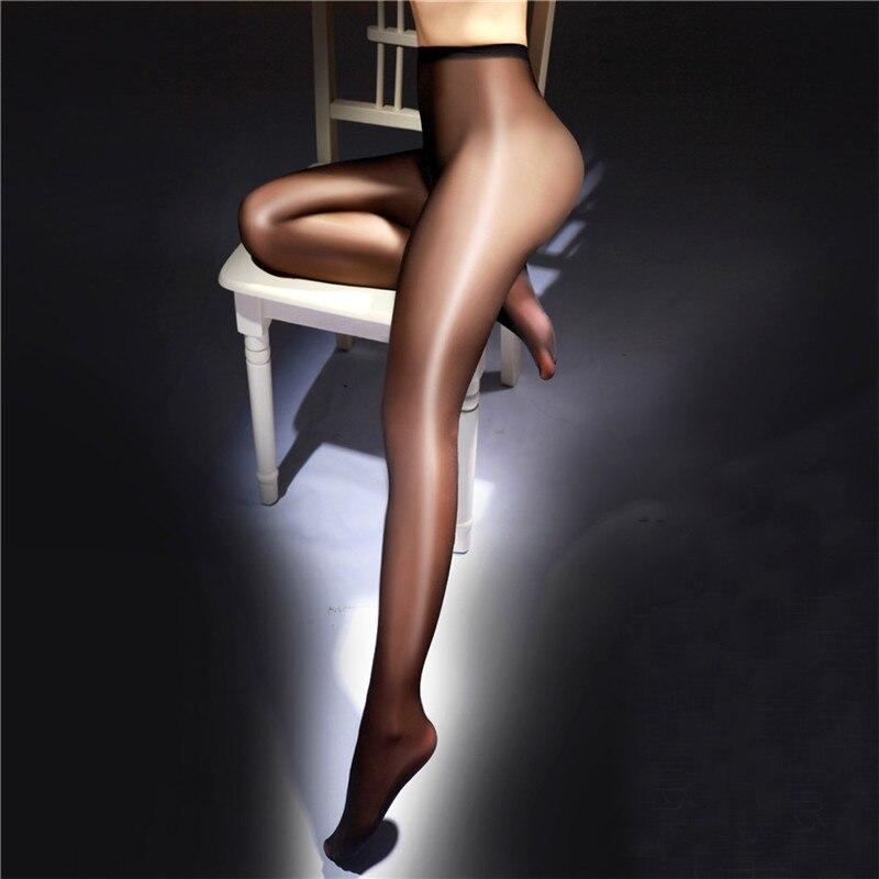 Pantimedias sexis para mujer, medias con entrepierna abierta, pantis brillantes, lencería erótica sexi, medias con destellos de aceite, medias, medias, pantimedias